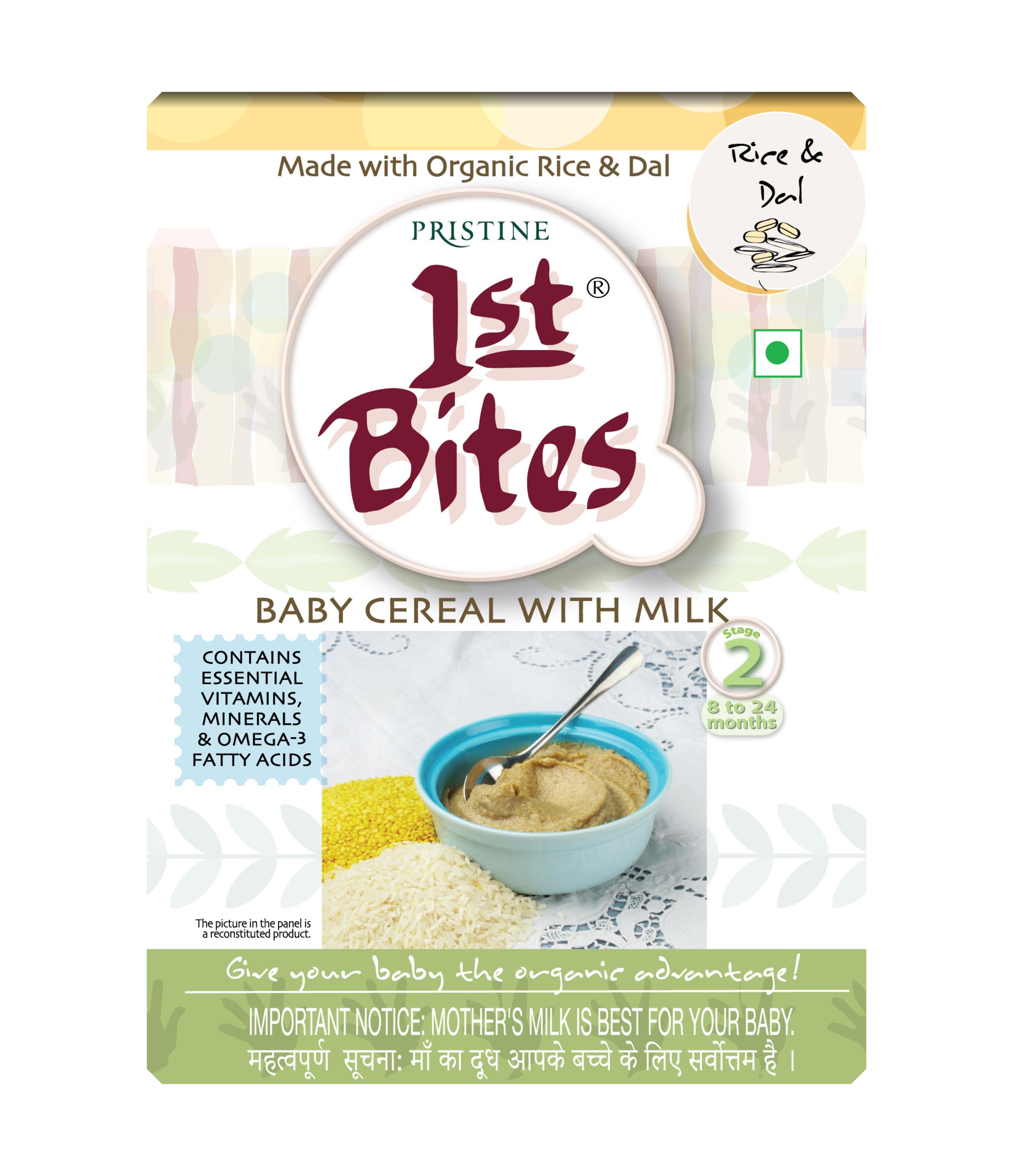 organic baby food -1st Bites - Rice & Dal