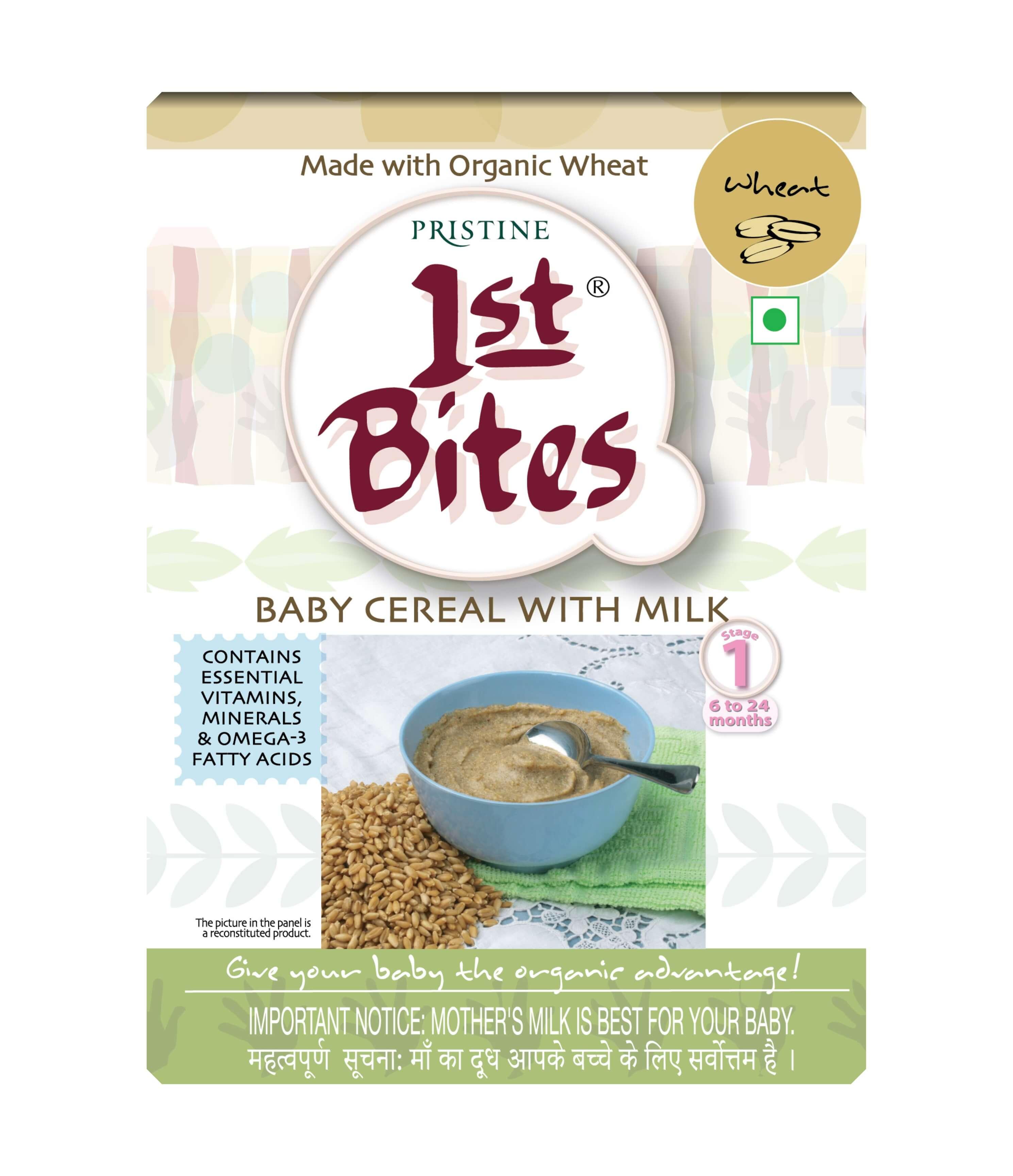 Organic baby food stage 1 -1st Bites wheat - Pristine Organics