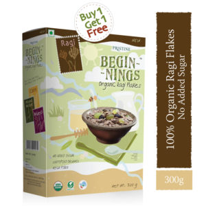 Organic Ragi Flakes Online, No Added Sugar, Healthy Breakfast, Pristine