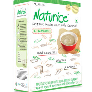 Organic Baby Food -Naturice baby rice cereal - Organic rice cereal - Pristine Organics