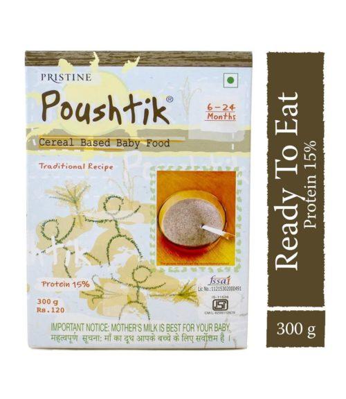 Poushtik Baby Cereal, 300g - Pristine Organics