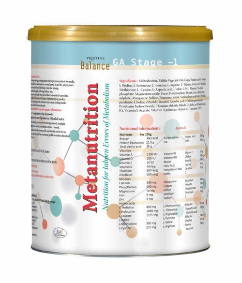 Pristine Balance Metanutrition, Inborn Errors Of Metabolism, GA Stage 2