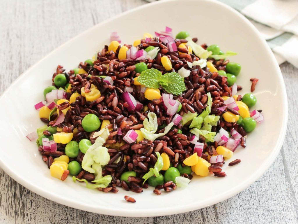 Black Rice Salad - Pristine Organics -Black rice recipes