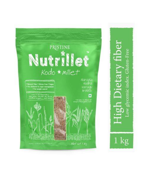 Kodo Millet 1 kg- Haraka -Kodra- Varagu- Arikelu - Pristine Nutrillet Millets (1)