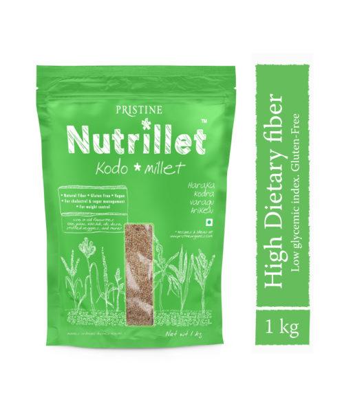 Kodo Millet 1 kg- Haraka -Kodra- Varagu- Arikelu - Pristine Nutrillet Millets