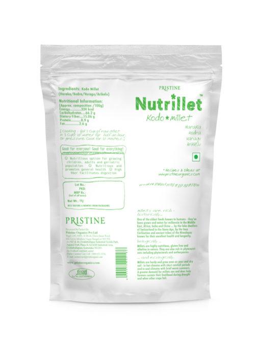 Kodo Millet 500g, Kodra, Haraka, Varagu, Arikelu - Pristine Nutrillet Millets 03