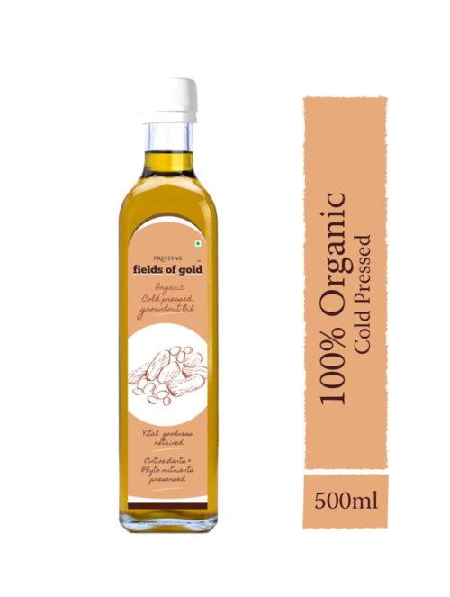 Organic Cold Pressed Groundnut Oil - Organic Groundnut Oil - Pristine Organics