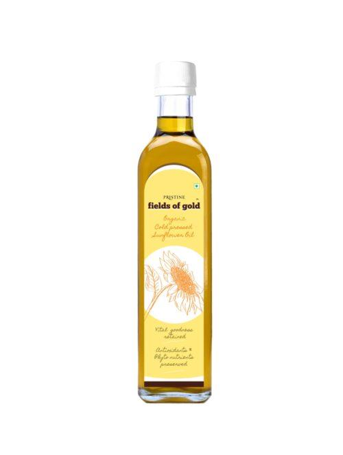 organic_cold_pressed_sunflower oil - Pristine Organics