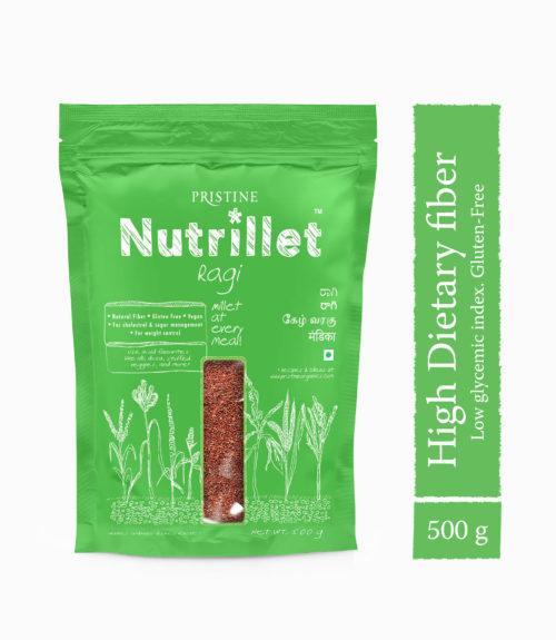 Ragi, 500g, Finger Millet - Pristine Nutrillet Millet