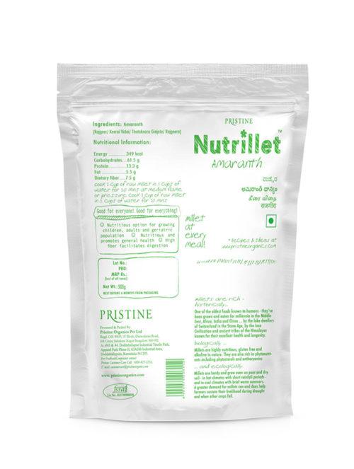 Amaranth, Rajagira, 01 - Pristine Nutrillet millet