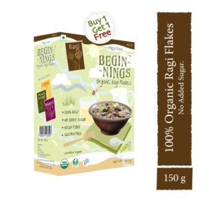 Ragi Flakes - Organic finger millet flakes- Pristine Organics