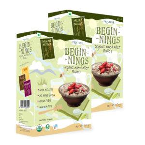 Organic Mixed Millet Flakes - Pristine Organics