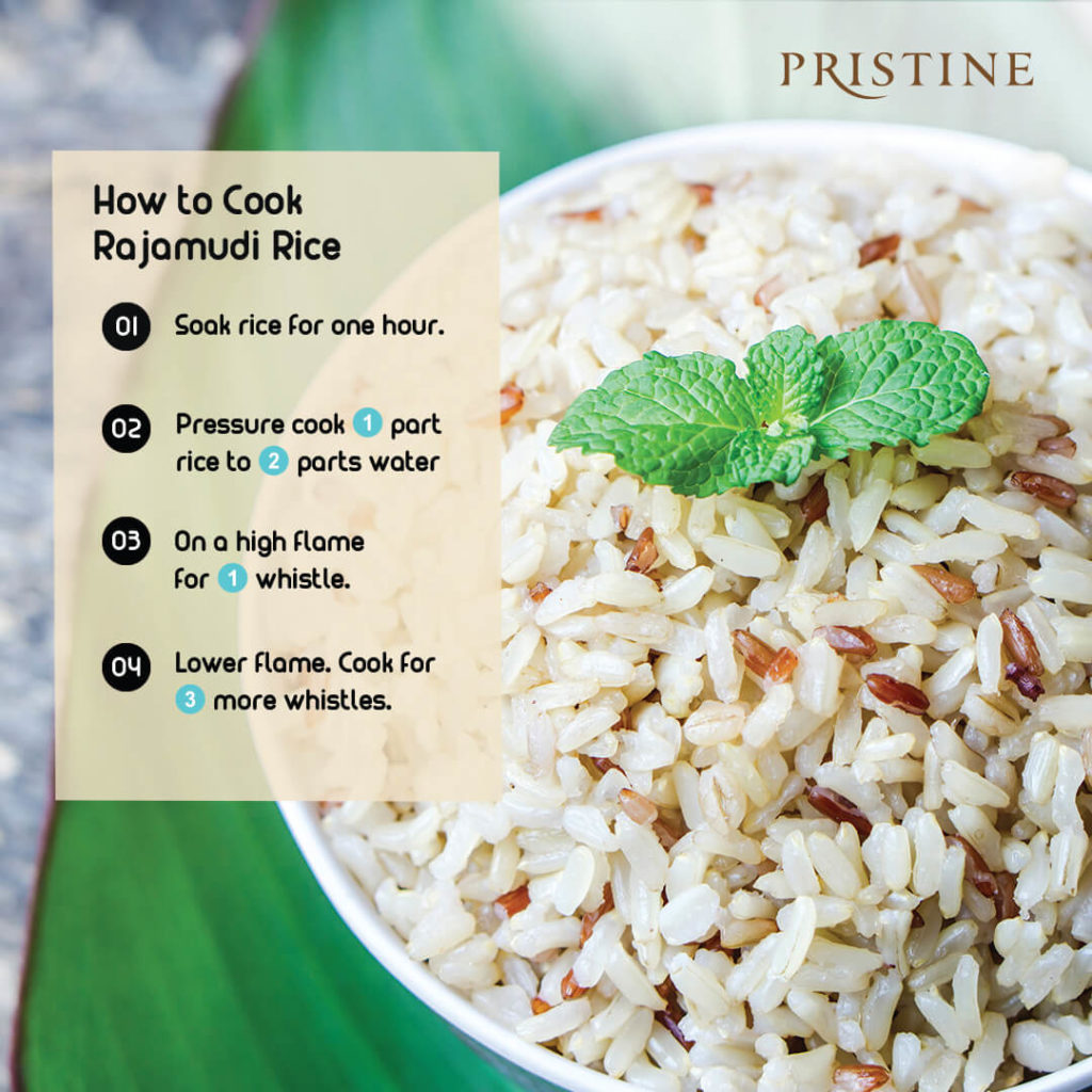 How to cook rajamudi rice -Pristine Organics - Healthy rice