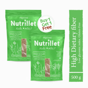 Kodo Millet 500g, Kodra, Haraka, Varagu, Arikelu - Pristine Nutrillet Millets