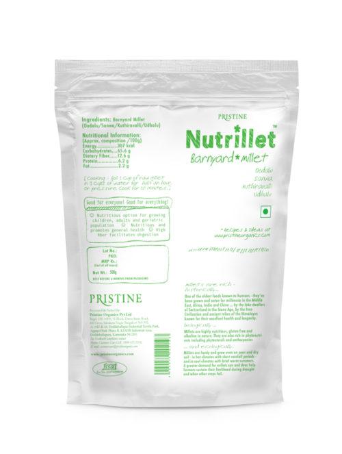 Barnyard millet -oodalu, sanwa - Nutrillet Millet - Pristine