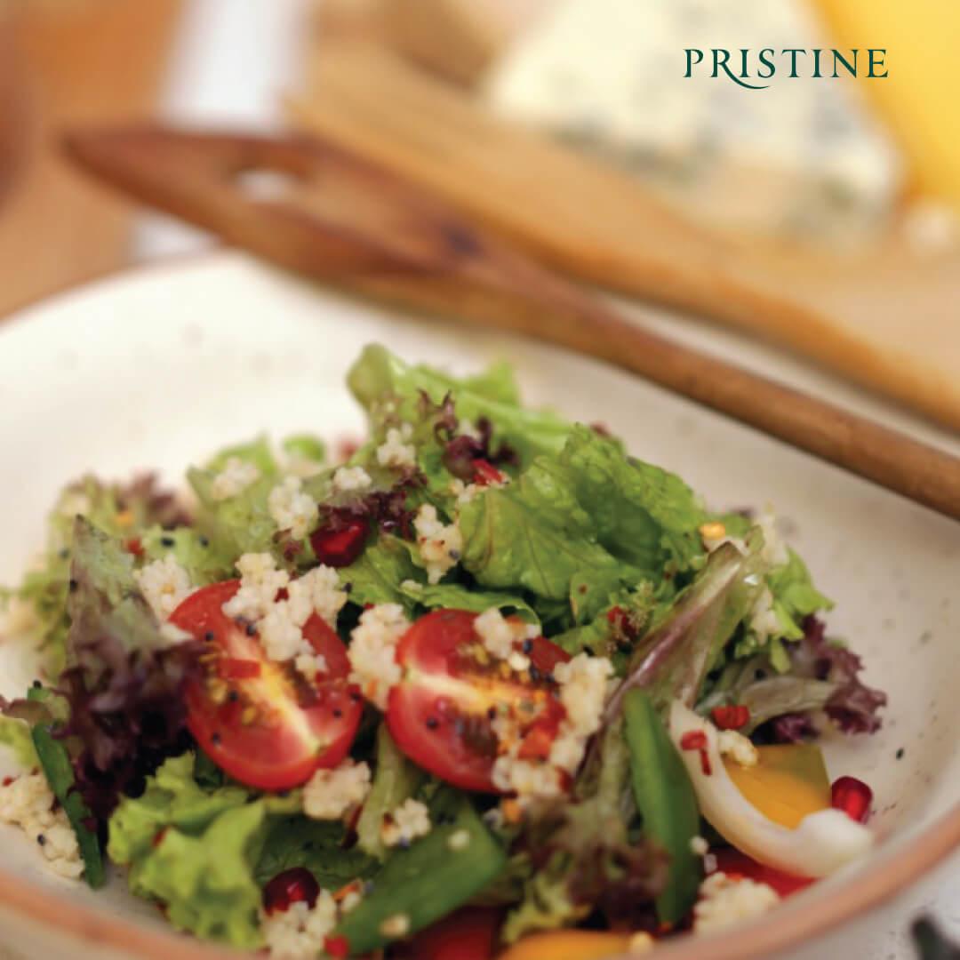millet salad recipe - little millet salad - Pristine Organics