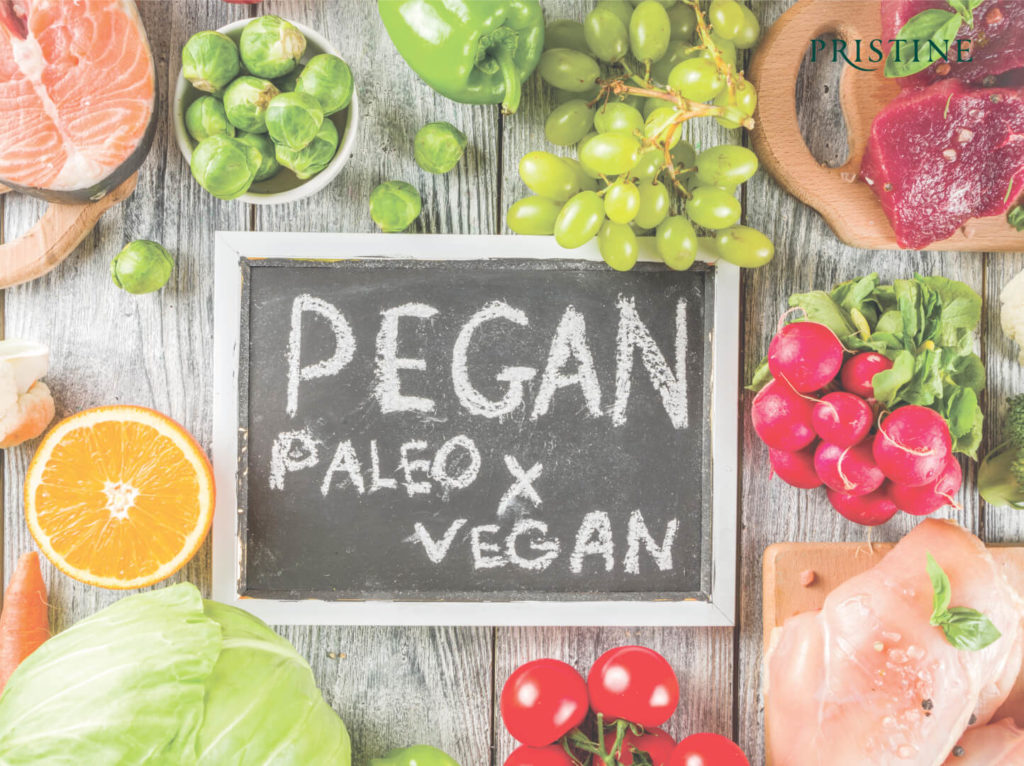 Pegan diet - vegan and paleo diet - pristine organics